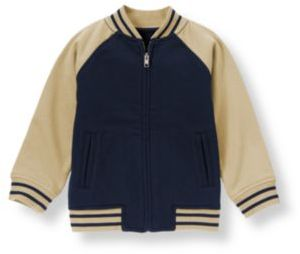Janie and Jack Football Zip Cardigan
