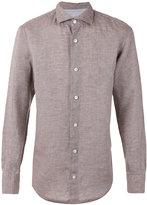 Eleventy linen shirt - men - Linen/Flax - 43