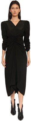 Isabel Marant Albi Silk Crepe De Chine Midi Dress