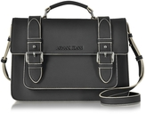 Armani Jeans Black Eco Leather Medium Crossbody bag