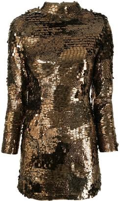 retrofete Multi-Panel Sequin-Embellished Dress