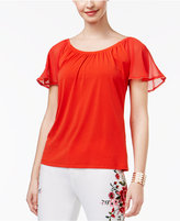 Thalia Sodi Flutter-Sleeve Top, Only at Macy's