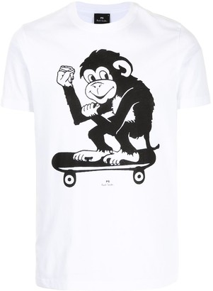 Paul Smith Skater Monkey organic cotton T-shirt