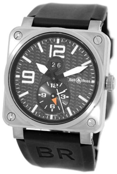 "Bell & Ross BR 03-51"" GMT Dual Time Titanium Mens Strap Watch"