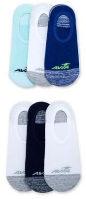 Avia Womens Zoned Cushion No Show Liner Socks, 6 Pack