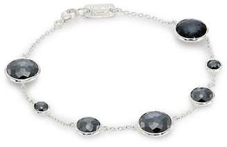Ippolita Lollipop Sterling Silver, Hematite & Hematite Doublet Link Bracelet