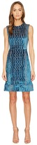 Yigal Azrouel Crocodile Velvet Burnout Midi Dress Women's Dress