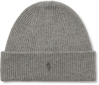 Polo Ralph Lauren Logo-Embroidered Ribbed Wool Beanie - Men - Gray