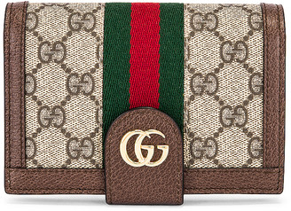 Gucci Canvas Passport Case in Beige Ebony | FWRD