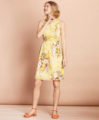 Brooks Brothers Floral-Print Cotton A-Line Dress