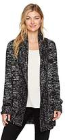 Levi's Women's Long Cardigan Sweater I, Knit-In Black and White Marle