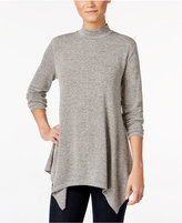 Style&Co. Style & Co. Mock-Neck Handkerchief-Hem Top, Only at Macy's
