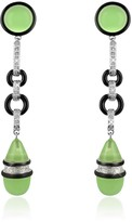A-Z Collection Jade Drop Clip-On Earrings