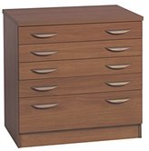 Home Office Furniture UK A2 Plan Chest Architect Chart Maps Drawing Cabinet, Wood, Teak, wood Grain Profile