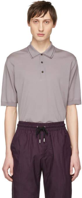 Lanvin Purple Wool Polo