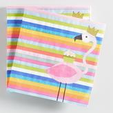 Flamingo Stripe Beverage Napkins Set of 2