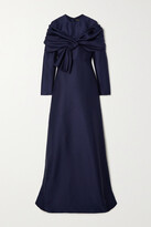 Thumbnail for your product : Reem Acra Draped Pique Gown - Blue