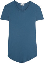 Splendid Ribbed Micro Modal And Supima Cotton-blend Jersey T-shirt - Petrol