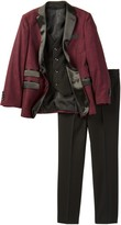 Isaac Mizrahi Three Piece Satin Lapel Suit (Toddler, Little Boys, & Big Boys)