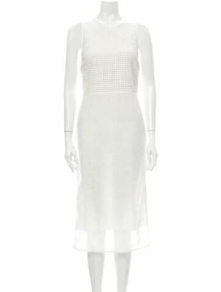 Diane von Furstenberg Crew Neck Midi Length Dress w/ Tags White