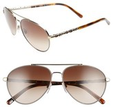 Burberry 58mm Aviator Sunglasses