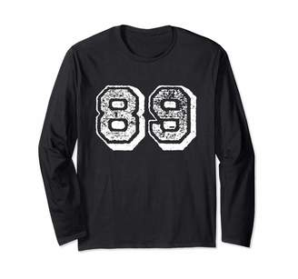 Sports Jersey Numbers: Vintage Number 89 Sports Jersey Player #89 Fan FRONT Print Vintage Long Sleeve T-Shirt