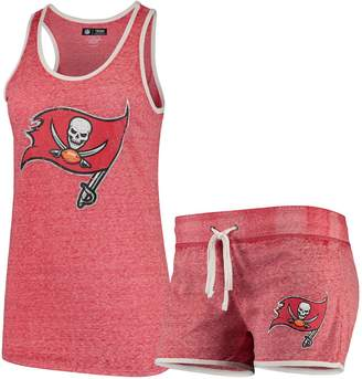 Unbranded Women's Concepts Sport Heathered Red Tampa Bay Buccaneers Squad Tank Top & Shorts Pajama Set