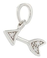 Loquet London Diamond 18k whitegold arrow talisman charm