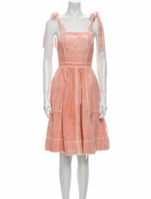 Ulla Johnson Square Neckline Mini Dress Pink