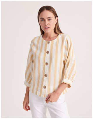 Regatta Round Neck Puff Sleeve Shirt