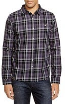 NATIVE YOUTH Grunge Plaid Slim Fit Button Down Shirt