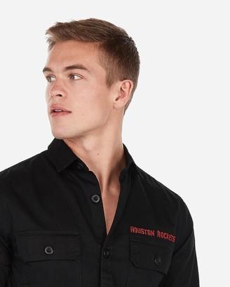 Express Houston Rockets Nba Twill Shirt Jacket