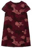 Burberry Deep Claret Embroidered Lace Dress