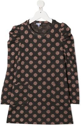 Piccola Ludo Polka Dot Print Mini Dress