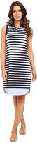 Tommy Bahama Paradise Stripe Sleeveless Polo Dress