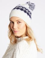 Marks and Spencer Fairisle Pom Hat