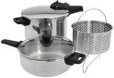Fagor Splendid 2-In-1 Multi Pressure Cooker Set (Stainless Steel) - Home