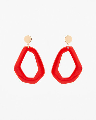 Le Château Acrylic Geometric Drop Earrings