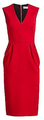 Victoria Beckham Women's Sleeveless V-Neck Sheath Dress