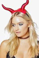 boohoo Isla Halloween Fluffy Devil Horn Headband