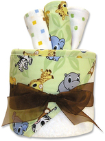 Trend Lab Green & White Chibi Hooded Towel & Wash Cloth Set