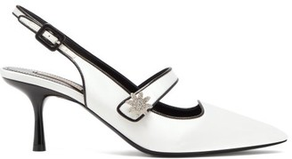 Fabrizio Viti - Davis Crystal-daisy Satin Mary-jane Pumps - White