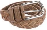 Prada Braided Leather Belt