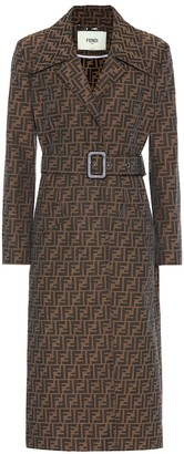 Fendi FF canvas trench coat