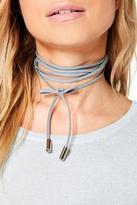 Boohoo Plus Maya Tie Cord Choker