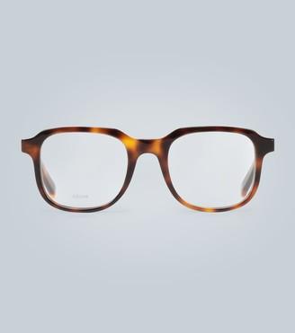 Celine Square tortoiseshell glasses