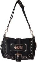 Cesare Paciotti Black Cloth Handbags