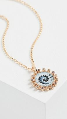 Marlo Laz 14k Mini Spiral Tie Dye Necklace