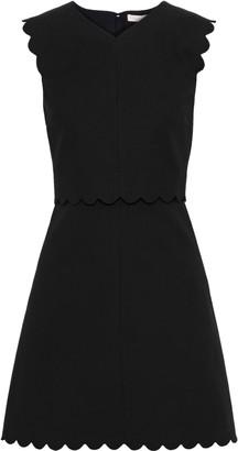 Rebecca Taylor Scalloped Layered Cotton-blend Mini Dress
