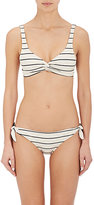Solid & Striped WOMEN'S JANE STRIPED MICROFIBER TWIST BIKINI TOP